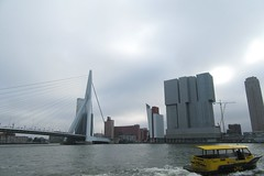 Rotterdam (Luc Herman) Tags: watertaxi water taxi erasmusbrug rotterdam erasmus bridge erasmusbridge city transport