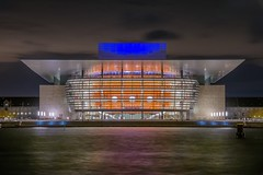 Opera house (karinavera) Tags: travel nikond5300 kbenhavn operahouse longexposure denmark water night light copenhagen