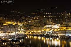 Monaco by night (Florian Krpfl) Tags: monaco city water sea light lights boat reflections canon6d canon hills rich people society building architecture