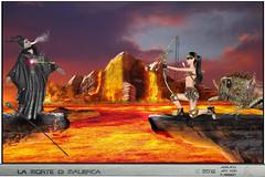 MORTE DI MALEFICA (ADRIANO ART FOR PASSION) Tags: cosplay selenex lava freccia arrow torinocomics2016 photomontage fotomontaggio photoshop malefica maleficent fantasia fantasy photoshopcreativo