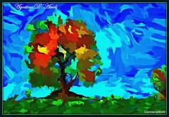Albero colorato... in Autunno - Dicembre-2016 (agostinodascoli) Tags: art agostinodascoli alberi autunno photoshop paesaggi piante photopainting texture landscape cianciana colore creative fullcolor sicilia digitalart digitalpainting digitalgraph