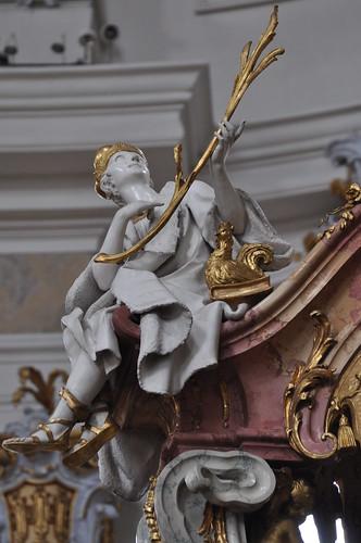 Staffelstein (Alemania). Basilica Vierzehnheiligen. Templete de los 14 Santos. San Vito