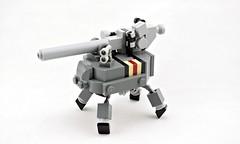 TU-43 Anti-Frame Field Gun (Deltassius) Tags: mfz mf0 lego space scifi war military artillery frame robot mech mecha