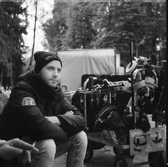 set life (Elmayak) Tags: film 120 filmphoto kodak blackandwhite cameracrew filmmaking arri cameramen setlife tmax mediumformat mamiyaflex mamiya movie 6x6 set