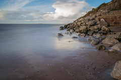 Rocky Shore (cathbooton) Tags: hilbreisland sea cablerelease tripod canonusers canon6d canoneos clouds sky rocks shore beach caldy wirral bigstopper leefilter longexposure