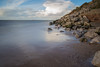 Rocky Shore (cathbooton) Tags: hilbreisland sea cablerelease tripod canonusers canon6d canoneos clouds sky rocks shore beach caldy wirral bigstopper leefilter longexposure