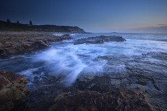 Before the Dawn (Paul Hollins) Tags: aus australia newsouthwales swanseaheads nikond750 nikon1635mmf4 seascape chalkybeach rocks waves watermovement