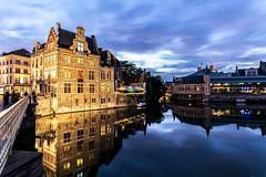 Gand by night (lecointelaetitia) Tags: gand nuit night nikon wideangle bluehour lights lumières expositionlongue longexposure belgium europe belgique voyage travel