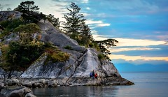 Living on the edge (Images by Christie  Happy Clicks for) Tags: britishcolumbia bc howesound nikon d5200 park westvancouver bccoastline bccoast coast whytecliffpark rock island