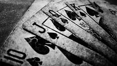 Royal Straight Flush (Luciano9358) Tags: samsunggalaxys5g900 monocromatico pretoebranco blackwhite pb bw card carta baralho bicyclecard baralhobicycle royalstraightflush poker