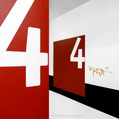 four2four (Andreas Douvitsas) Tags: 4 four number garage parking lines minimal architecture germany