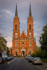 Cathedral at Lodz (Alex Ignatov) Tags: europe lodz poland architecture building cathedral catholic church city cityscape cloud evening sky streetphotography