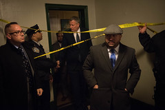 Mayor Bill de Blasio and Commissioner Steven Banks visit an apartment in the Bronx where two young children were tragically killed this afternoon on Wednesday, December 7, 2016.  Michael Appleton/Mayoral Photography Office (nycmayorsoffice) Tags: housing safety nypd fdny newyork ny usa