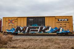 (o texano) Tags: texas graffiti trains freights bench benching mfk