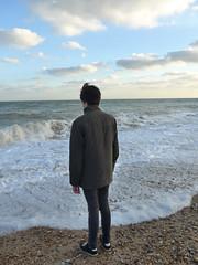 On the beach (moley75) Tags: adam beach eastsussex eastbourne gormley kingcanute seafront