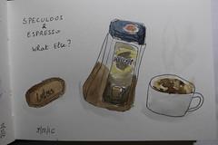 Sketchbook 45 (chando*) Tags: croquis sketch aquarelle watercolor speculoos biscuit cookie nescaf instantcoffee espresso tasse cup