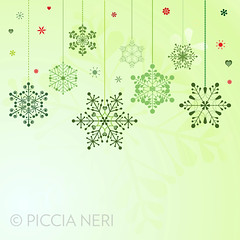 Set of hanging snowflakes (PicciaNeri) Tags: freezing festivities snowfall artistic nature frost icy xmas christmas greetings snow chrystal seasonal festive flake symmetry design artwork celebrate ice holidays color art border abstract vector collection freeze greensymbol flakes celebration set colorful card colors cold holiday december winter wallpaper snowy snowflake unique happy frozen