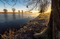Sunrise @ Maas - Grave (NL) (Henk Verheyen) Tags: grave maas frost rijp river rivier sunrise vorst water zonsopkomst outdoor serene sky landscape landschap