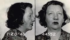 Elizabeth Hall (Midnight Believer) Tags: mugshot crime vice prisoner retro 1940s inmate police booking arrest jail
