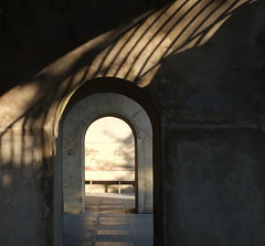 Arches (Claire_Sambrook) Tags: light shadow sea morninglight spring arches solent portsmouth oldportsmouth