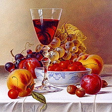 Jigsaw Puzzle Game called A Still Life With Wine (thefoxdot) Tags: puzzles jigsawpuzzles onlinepuzzles playpuzzle jigbo astilllifewithwinepuzzle