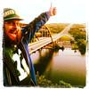 Cheese Head Tourist (seanshowalter) Tags: bridge green austin bay 360 tourist packers cheesehead
