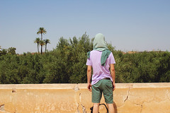 against (no i'm not, i'm very married) Tags: morocco marrakech menara moro