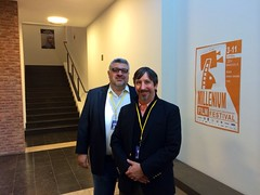 Executive Producer Leon G. Shahabian and Board member Woods Fairbanks about to attend the second Yemeniettes screening