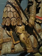 ca. 1420-1430 - 'St. George', Mosan, Germanisches Nationalmuseum, Nürnberg, Bayern, Germany (roelipilami (Roel Renmans)) Tags: saint st george san arte sint jorge maas jordi armour georges joris visor jørgen школа meuse sankt 1420 heiliger jerzy georg armadura armure rüstung breastplate juris maasland harnas bevor 1410 vizier lamellar visier yorgi święty jüri borstplaat püha fauld visière mosan kinplaat küriss kastenbrust hounskull plattenpanzer άγιοσ γεώργιοσ mosano svētais halsberg barbozza bruststück перамаганосец heilage маасская halsberge bauchreifen георгій