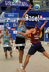 9038-fotogalerie-rv.ch (Robi33) Tags: show summer game sport ball court switzerland sand play action competition basel victory player beachvolleyball international block umpire viewers