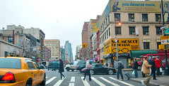 Cloudy Day in New York (DigitalLUX) Tags: city nyc people usa ny cars buildings cityscape cloudy taxi streetphotography streetscene urbanlandscape thebigapple urbanscene cityscapte