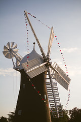 Holgate Windmill with bunting