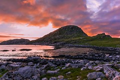 Lofoten 2 a.m. (Pietro Consigliere) Tags: pink sunset sea orange colours nor lofoten norvegia midnightsun sescape