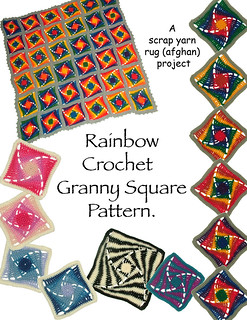 Crochet Granny Square Rug Patterns : Ravelry: Rainbow Crochet Granny Square Rug (Afghan ...
