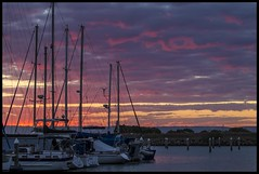 Sunset over Scarborough Marina-2=