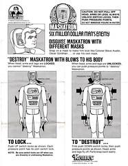 Maskatron Instructions (WEBmikey) Tags: toys memories kenner sixmilliondollarman