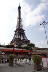 Cafes near the Eiffel (eutouring) Tags: travel paris france tower restaurant cafe eiffeltower eiffel cafes