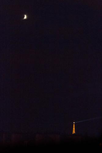Lune et Tour Eiffel
