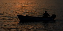 Gone fishing (Steve_66) Tags: sunset sea sun seascape man water canon eos boat fishing fisherman steve croatia chillin sihouette rovigno rovinj istria wayoflife 550d