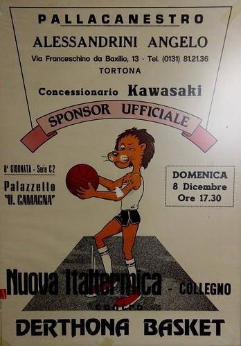 Manifesto Derthona Basket vs. Collegno Basket - Serie C2 Maschile