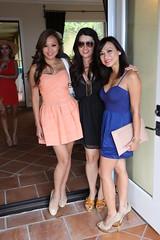 Three friends in the doorway (FrogMiller) Tags: justin ladies girls party coast model women models newport