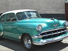 Yesterday's Ride | 1954 | Chevrolet Bel Air (e r j k . a m e r j k a) Tags: cruise green classic cars chevrolet belair illustration watercolor ride 1954 explore chevy erjkprunczyk