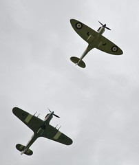 Spitfire-Hurricane Blunsden 2014-08-09_9 (Amys-pics) Tags: memorial britain hurricane flight swindon rollsroyce battle merlin spitfire bbmf