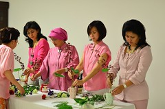 Workshop valentine day 2014 (www.lusywahyudi.com) Tags: pink flower floral japan indonesia student nikon ikebana style valentine exhibition teacher demonstration study arrangement rikka ikenobo wahyudi shimputai