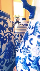 House of 'Blues' (Kenneth Wesley Earley) Tags: blue macro ceramic spokane jar vase pottery planter jars vases blueandwhite macromadness spokanewa chinesevase 99201 99205 htconem8
