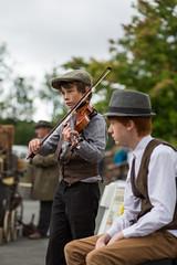 Pateley Bridge 1940s Weekend 5 (cowboy72) Tags: boys box caps hats violin wartime pateleybridge pateleybridge1940sweekend