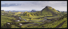 Storasula Panoramic (RattyBoots) Tags: panorama canon landscape iceland laugavegur d panoramic canon24105 storasula july2014