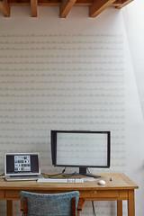 New workspace (delphinE-LB) Tags: home computer office bureau deco ordinateur dco papierpeint fermliving