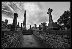 Old Calton Burial Ground (meggiecaminos) Tags: bw white black blanco graveyard scotland edinburgh cementerio negro escocia bn graves burial tumbas cruces obelisco edimburgo bianco nero calton scozia obelisc cimiterio oldcaltonburialground