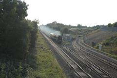 34046 Braunton, Swindon, 09 September 2014 (Woolwinder) Tags: swindon southernrailway britishrailways gwml 34046braunton keypointrailfreightterminal bulleid462 rebuiltwestcountry